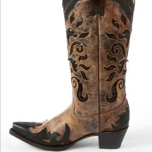 Corral Boots Sequin Inset Cowboy Boot